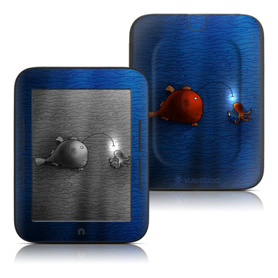 Barnes and Noble Nook Touch Skin - Angler Fish
