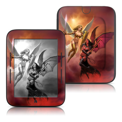 Barnes and Noble Nook Touch Skin - Angel vs Demon