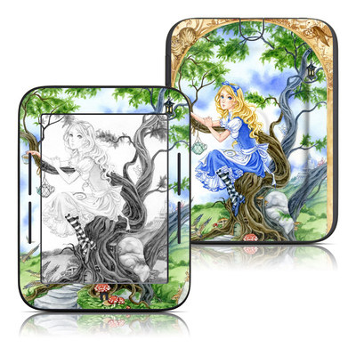 Barnes and Noble Nook Touch Skin - Alice's Tea Time
