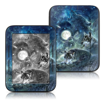 Barnes and Noble Nook Touch Skin - Bark At The Moon