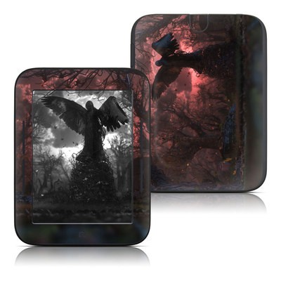 Barnes and Noble Nook Touch Skin - Black Angel