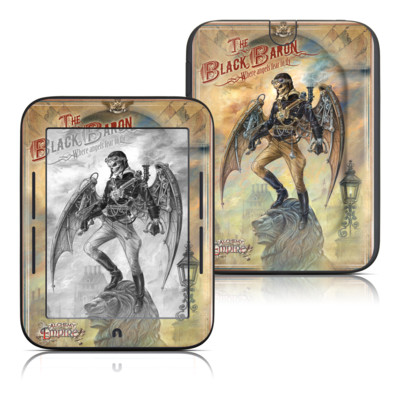 Barnes and Noble Nook Touch Skin - The Black Baron