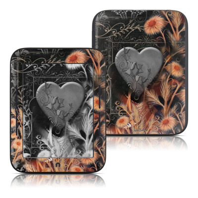 Barnes and Noble Nook Touch Skin - Black Lace Flower
