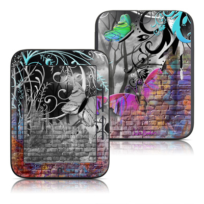 Barnes and Noble Nook Touch Skin - Butterfly Wall