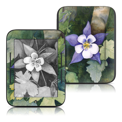 Barnes and Noble Nook Touch Skin - Colorado Columbines