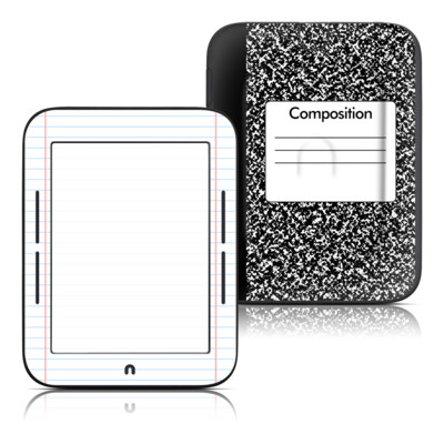 Barnes and Noble Nook Touch Skin - Composition Notebook