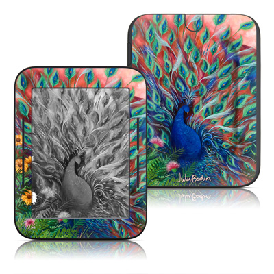 Barnes and Noble Nook Touch Skin - Coral Peacock