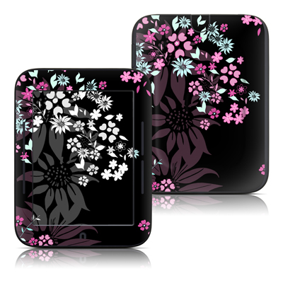 Barnes and Noble Nook Touch Skin - Dark Flowers