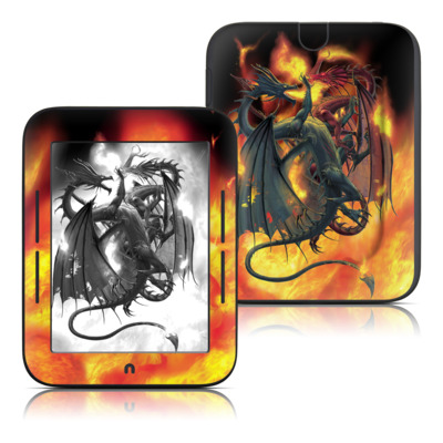 Barnes and Noble Nook Touch Skin - Dragon Wars
