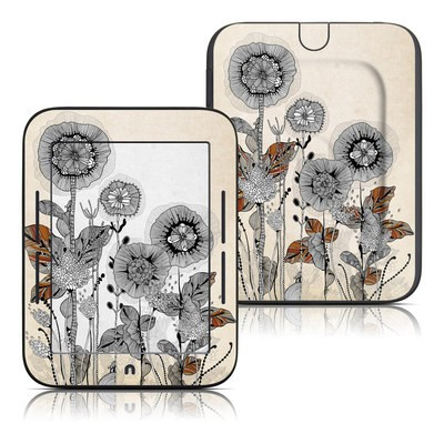 Barnes and Noble Nook Touch Skin - Four Flowers