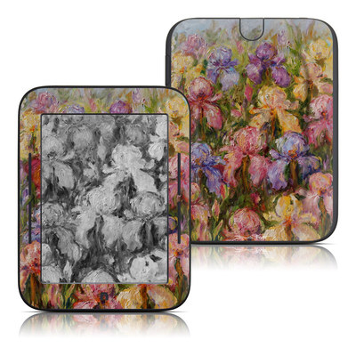 Barnes and Noble Nook Touch Skin - Field Of Irises