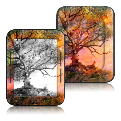Barnes and Noble Nook Touch Skin - Fox Sunset