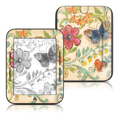 Barnes and Noble Nook Touch Skin - Garden Scroll