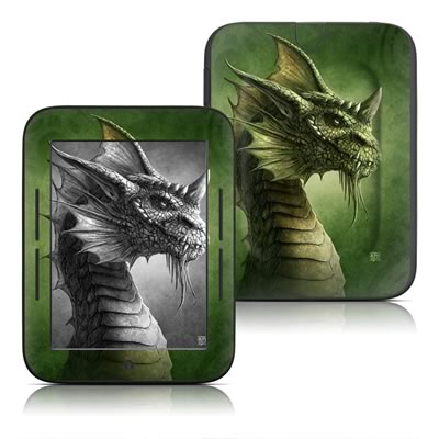 Barnes and Noble Nook Touch Skin - Green Dragon