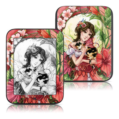 Barnes and Noble Nook Touch Skin - Hibiscus Fairy