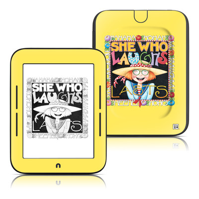 Barnes and Noble Nook Touch Skin - She Who Laughs