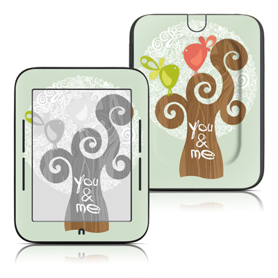 Barnes and Noble Nook Touch Skin - Two Little Birds