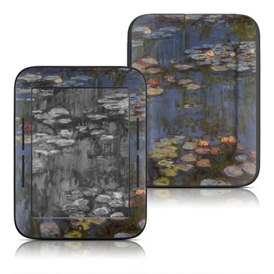 Barnes and Noble Nook Touch Skin - Monet - Water lilies
