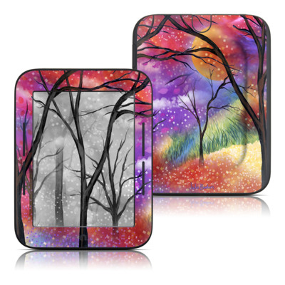 Barnes and Noble Nook Touch Skin - Moon Meadow