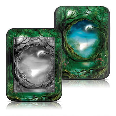 Barnes and Noble Nook Touch Skin - Moon Tree