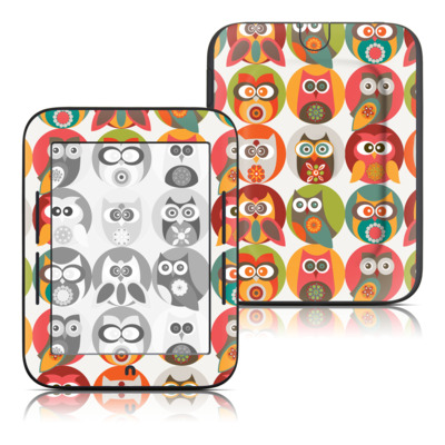 Barnes and Noble Nook Touch Skin - Owls Family