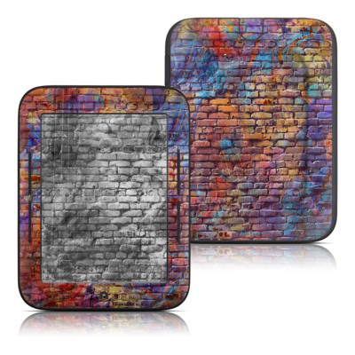 Barnes and Noble Nook Touch Skin - Painted Brick