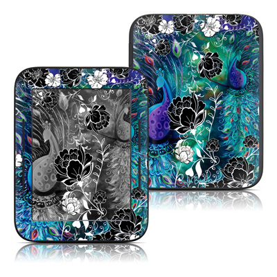 Barnes and Noble Nook Touch Skin - Peacock Garden