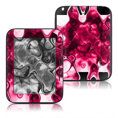 Barnes and Noble Nook Touch Skin - Pink Splatter