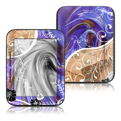 Barnes and Noble Nook Touch Skin - Purple Waves