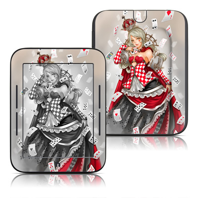 Barnes and Noble Nook Touch Skin - Queen Of Cards