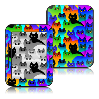Barnes and Noble Nook Touch Skin - Rainbow Cats