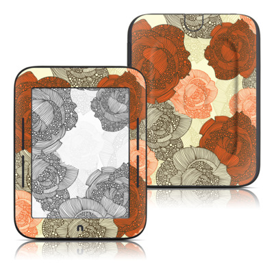 Barnes and Noble Nook Touch Skin - Roses