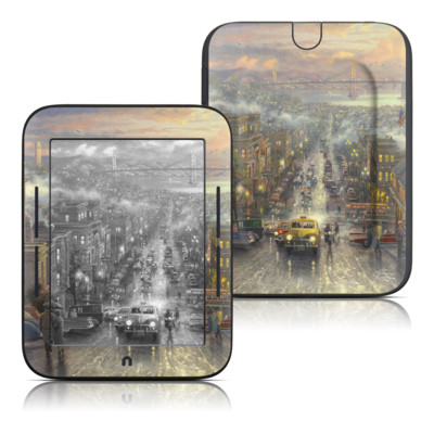 Barnes and Noble Nook Touch Skin - Heart of San Francisco