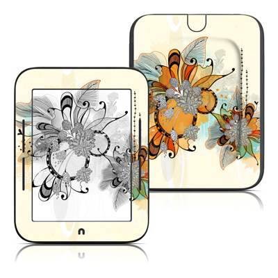 Barnes and Noble Nook Touch Skin - Sunset Flowers