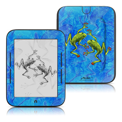 Barnes and Noble Nook Touch Skin - Tiger Frogs