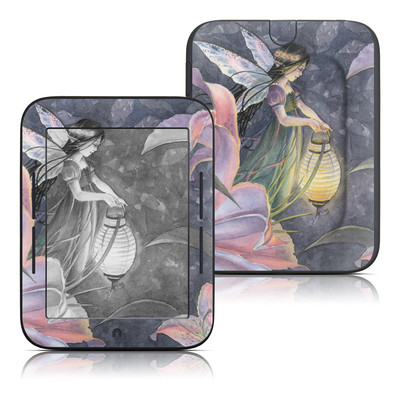 Barnes and Noble Nook Touch Skin - Twilight Lilies