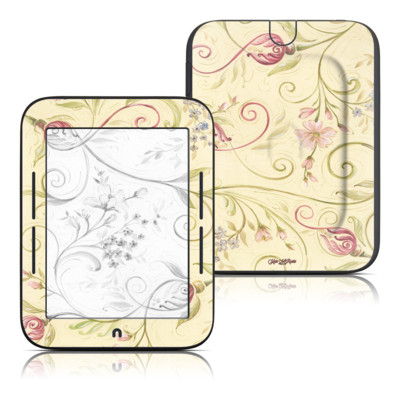 Barnes and Noble Nook Touch Skin - Tulip Scroll