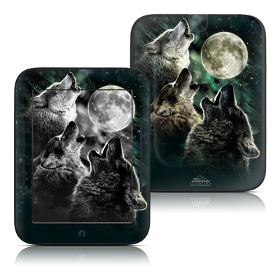 Barnes and Noble Nook Touch Skin - Three Wolf Moon