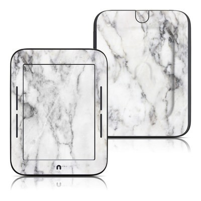 Barnes and Noble Nook Touch Skin - White Marble