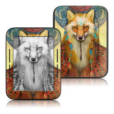 Barnes and Noble Nook Touch Skin - Wise Fox