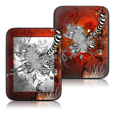 Barnes and Noble Nook Touch Skin - Wild Lilly