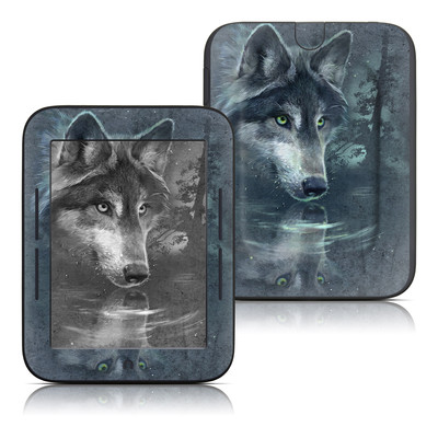 Barnes and Noble Nook Touch Skin - Wolf Reflection