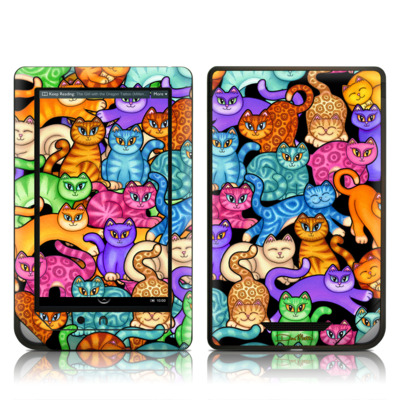Barnes and Noble NOOK Tablet Skin - Colorful Kittens
