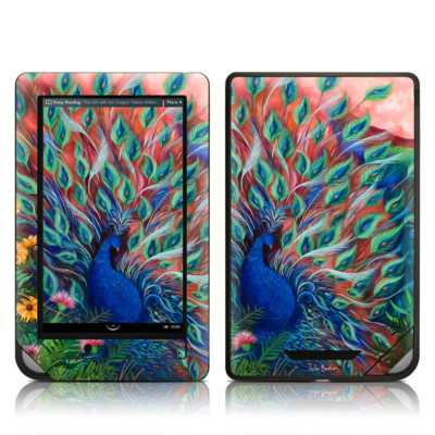 Barnes and Noble NOOK Tablet Skin - Coral Peacock