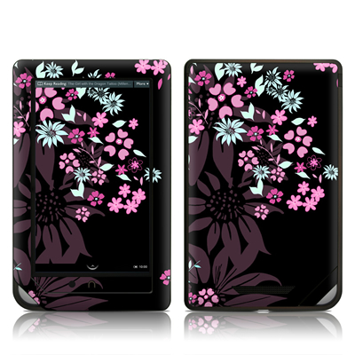 Barnes and Noble NOOK Tablet Skin - Dark Flowers