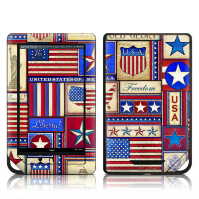 Barnes and Noble NOOK Tablet Skin - Flag Patchwork