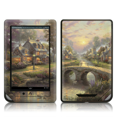 Barnes and Noble NOOK Tablet Skin - Sunset On Lamplight Lane