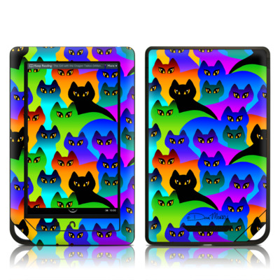 Barnes and Noble NOOK Tablet Skin - Rainbow Cats