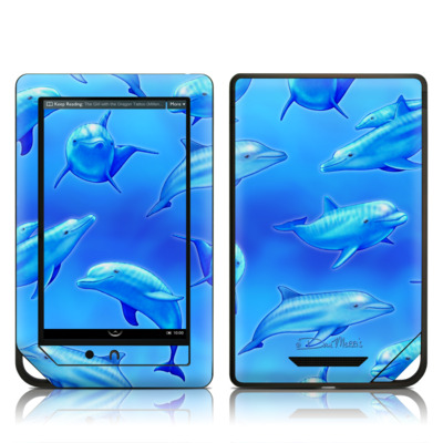 Barnes and Noble NOOK Tablet Skin - Swimming Dolphins