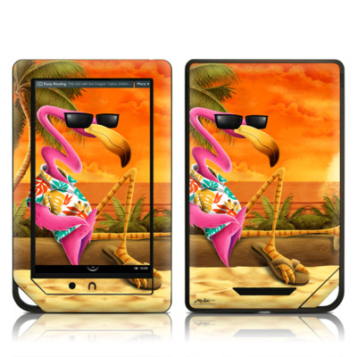 Barnes and Noble NOOK Tablet Skin - Sunset Flamingo